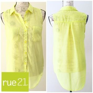Rue21  sleeveless long yellow strapped top